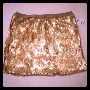 Charlotte Russe sequined mini skirt size L.